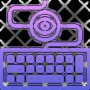 Keyboard Keylogger Eye Icon