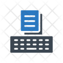 Online Keyboard Document Icon