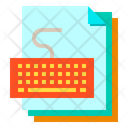 Keyboard Files Paper Icon
