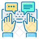 Keyboard Typing Chatting Icon
