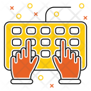 Keybord Device Hands Icon