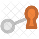 Keyhole Key Security Icon