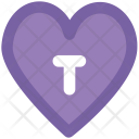 Keyhole Heart Shaped Icon