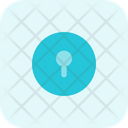Keyhole Circle Interface Icon