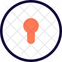Keyhole Circle Icon