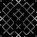 Keyhole Unlock Icon