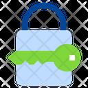 Keylock Network Computer Icon