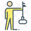 Employee Human Key Icon