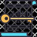 Keyword Text Seo Icon
