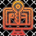 Keyword Key Secure Web Icon