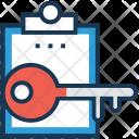 Keyword Clipboard Key Icon
