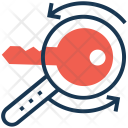 Keyword Magnifier Processing Icon