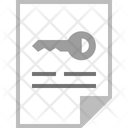 Key Document File Icon