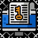 Keyword List Research Icon