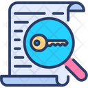 Keyword Research Research Magnify Icon