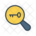 Magnifier Key Search Icon