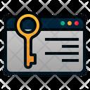 Keywording Copywriting Internet Icon