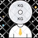 Kg Weight Man Icon