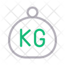 Kg Weight Measure Icon