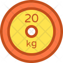 Kg Dumbbell Plate Icon