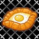 Khachapuri In Adjarian Food Eat Icon