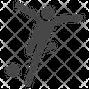 Kick Kicking Shoot Icon