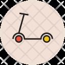 Kick Scooter Push Icon