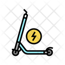 Electrical Kick Scooter Icon