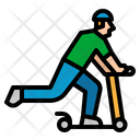 Kickboard Kick Scooter Icon