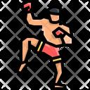 Kickboxing Martial Arts Kick Icon
