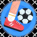 Playing Football Kicking Football Sports Icon