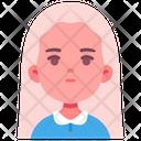 Girl Longhair Female Icon