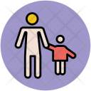 Kid Child Father Icon
