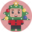 Kid Child Christmas Icon
