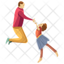 Kid Dancing Physical Fitness Kid Support Icon