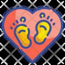 Kid Footprint Footprints Foot Icon