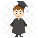 Kid Graduate Cartoon Icon