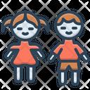 Kids Children Brood Icon
