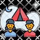 Camp Kids Campsite Icon