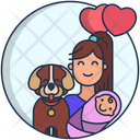 Kids Lover Pet Lover Kids Icon