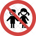 Kids not allowed Icon