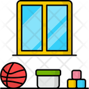 Kids Room Toys Bed Icon