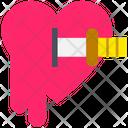 Halloween Heart Knife Icon