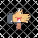 Hand Knife Kill Icon