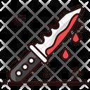 Killer Knife Bloody Knife Blade Icon