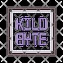 Kilobyte Binary Code Coding Icon