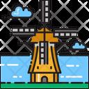 Kinderdijk Windmills Icon