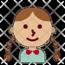 Kindergarten Girl Student Icon