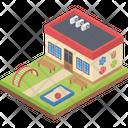 Kindergarten Building Icon