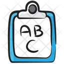 Kindergarten Education Abc Writing English Writing Icon